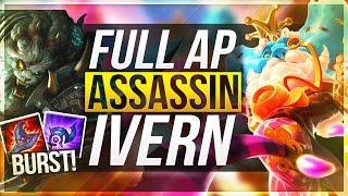 FULL AP ASSASSIN IVERN | Huge Burst Potential! - League of Legends