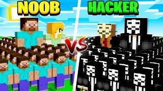 MINECRAFT NOOB ARMY vs HACKER ARMY!