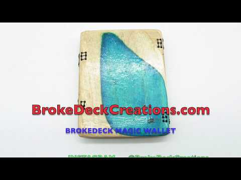 The Making Of The BrokeDeck Magic Wallet from recycled skateboards