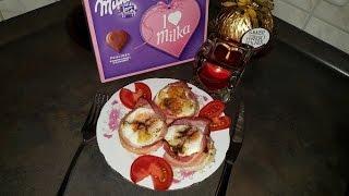 Яичные маффины с беконом на завтрак для мужа,любимого. Идея на день валентина и не только...