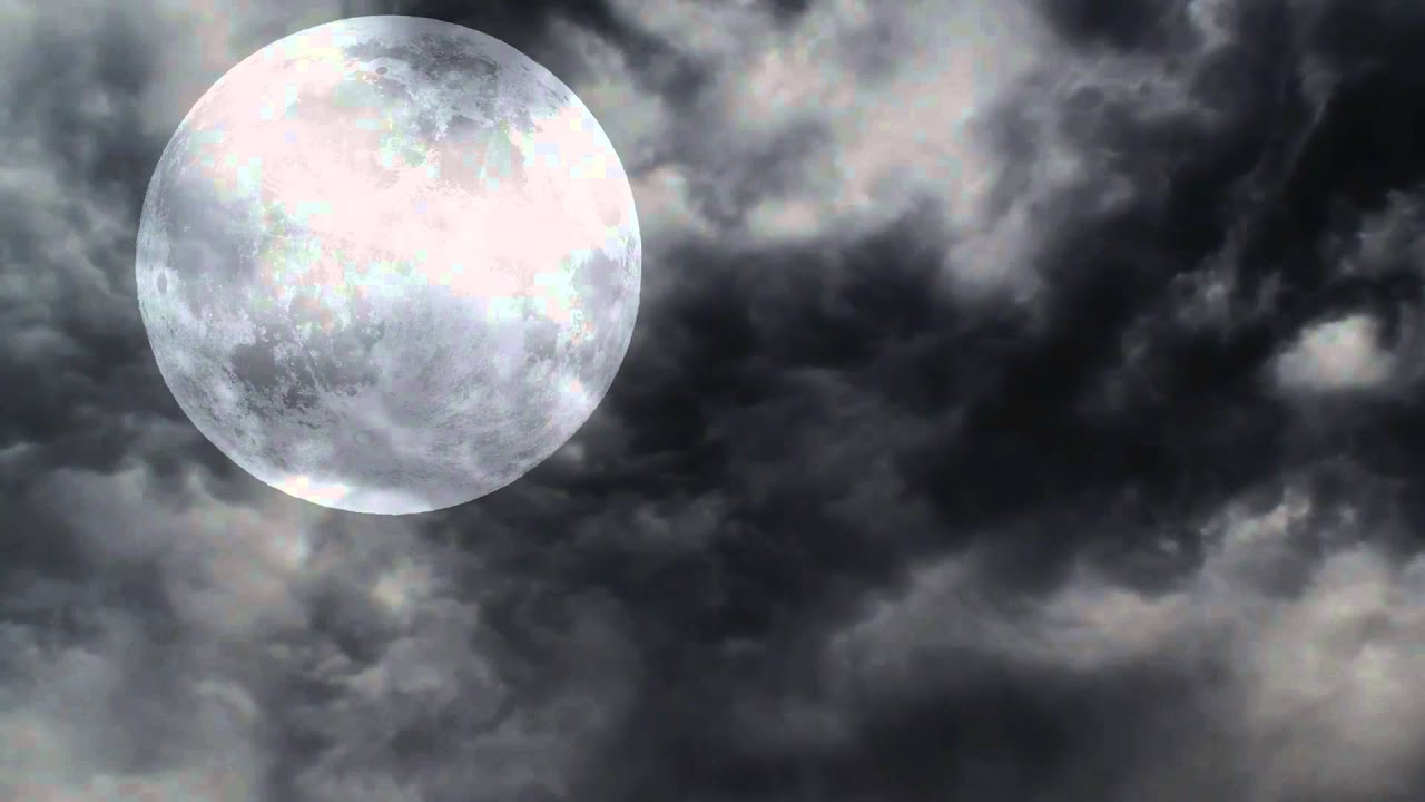 halloween full moon and night clouds free motion