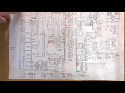 Схема и описание отечественного самодельного IBM совместимого  компьютера АТМ 1991.