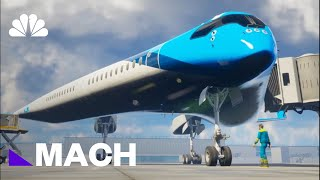 Futuristic 'Flying V' Airplane Could Change The Way We Fly | Mach | NBC News