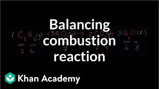 Balancing another combustion reaction