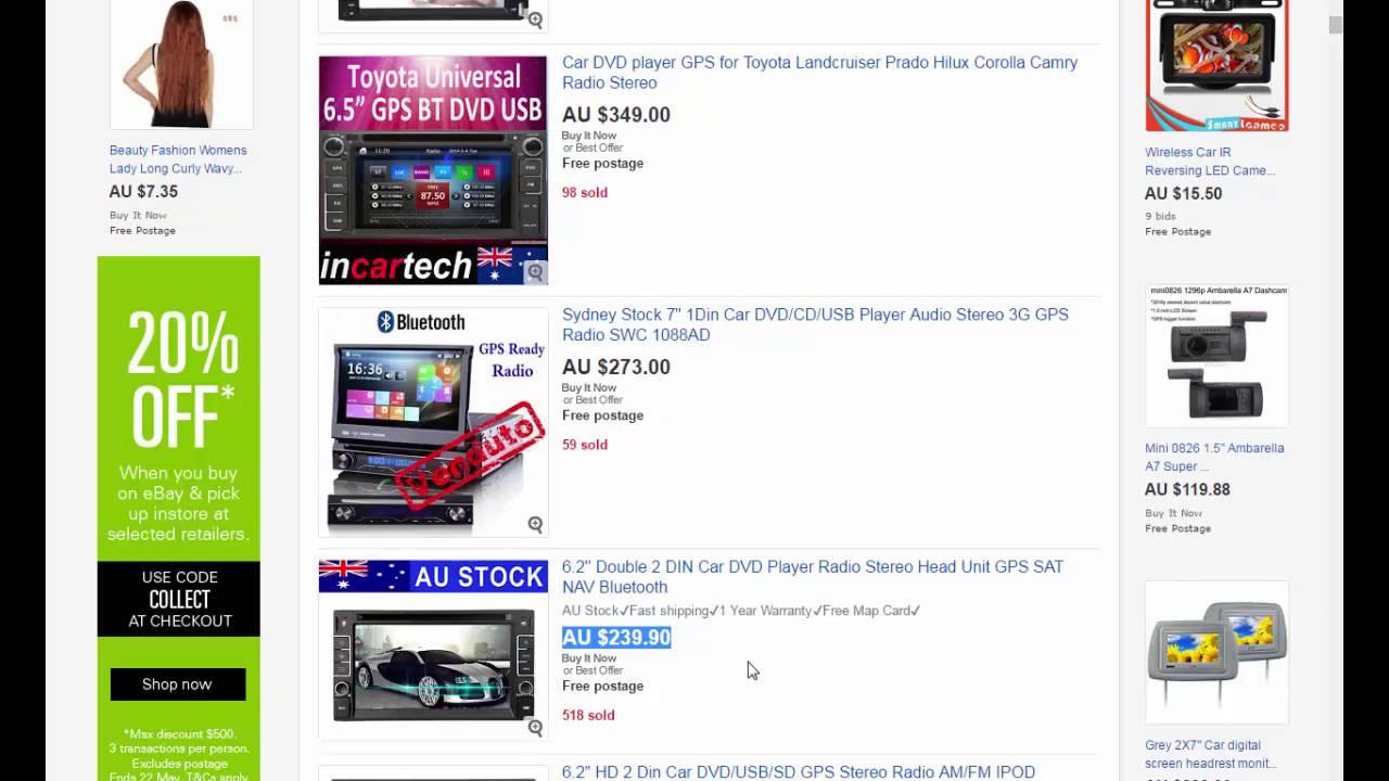 Should i buy a car dvd player on ebay