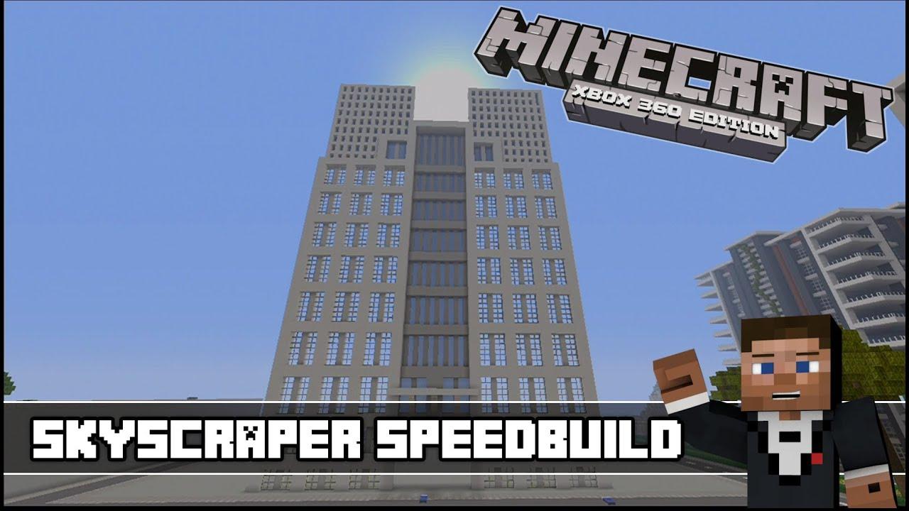 Minecraft Xbox 360 : Modern Skyscraper Speedbuild - YouTube