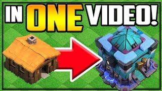 GEM TO MAX! Town Hall 2 to 13 in ONE VIDEO! Clash of Clans Gem Spree