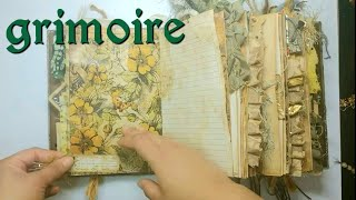 Junk Journal Grimoire - A Witch in the Woods - Book of Shadows - Handmade Book - Nature Journal