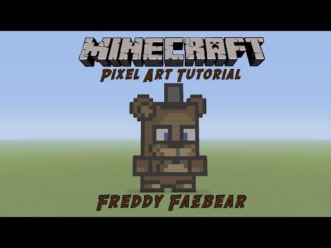 Minecraft Pixel Art Tutorial: Freddy Fazbear (Five Nights At Freddy's)