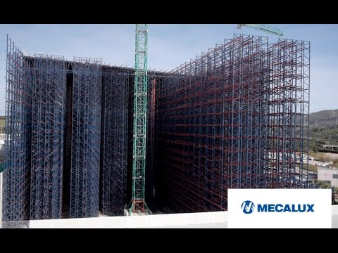 How to build an automated clad-rack warehouse? Timelapse | Interlake Mecalux
