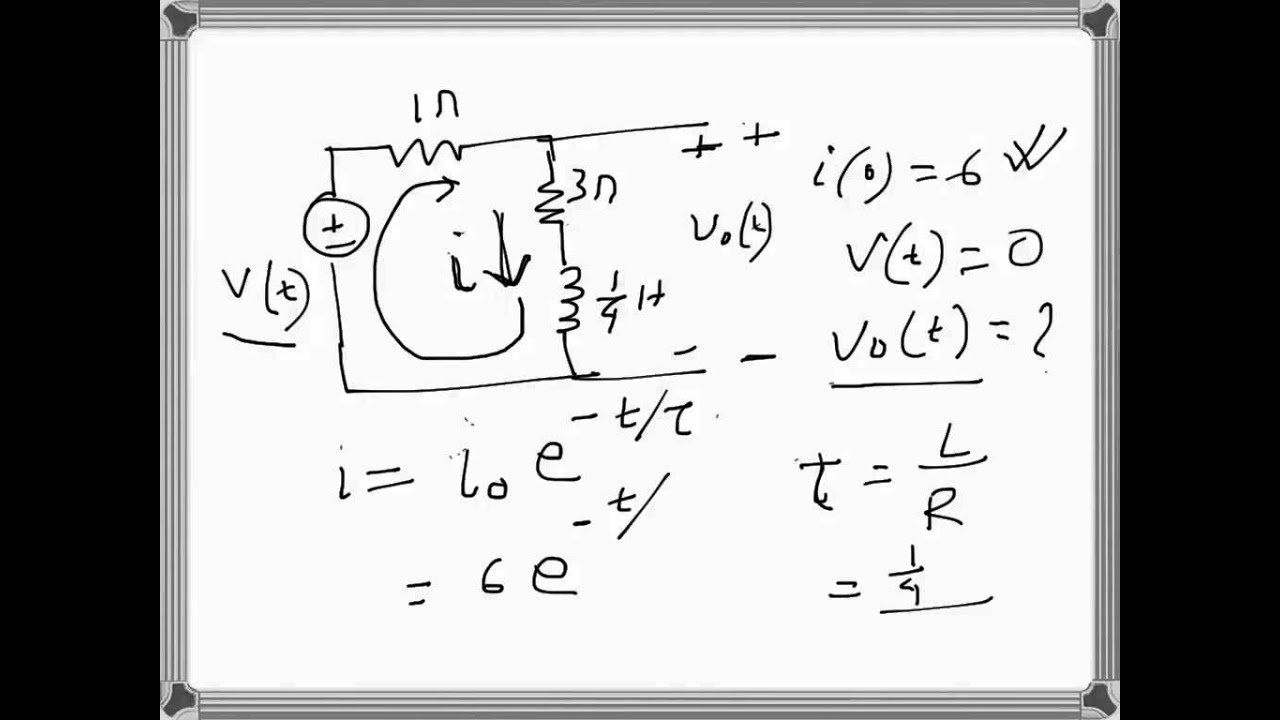 electrical engineering transient analysis in an inductive circuit  problem example