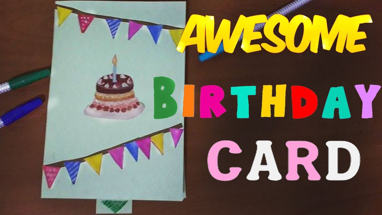 How to make Awesome birthday card YouTube