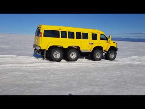 Kodiak 8x8 on Langjökull Iceland