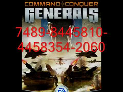 command and conquer generals product key