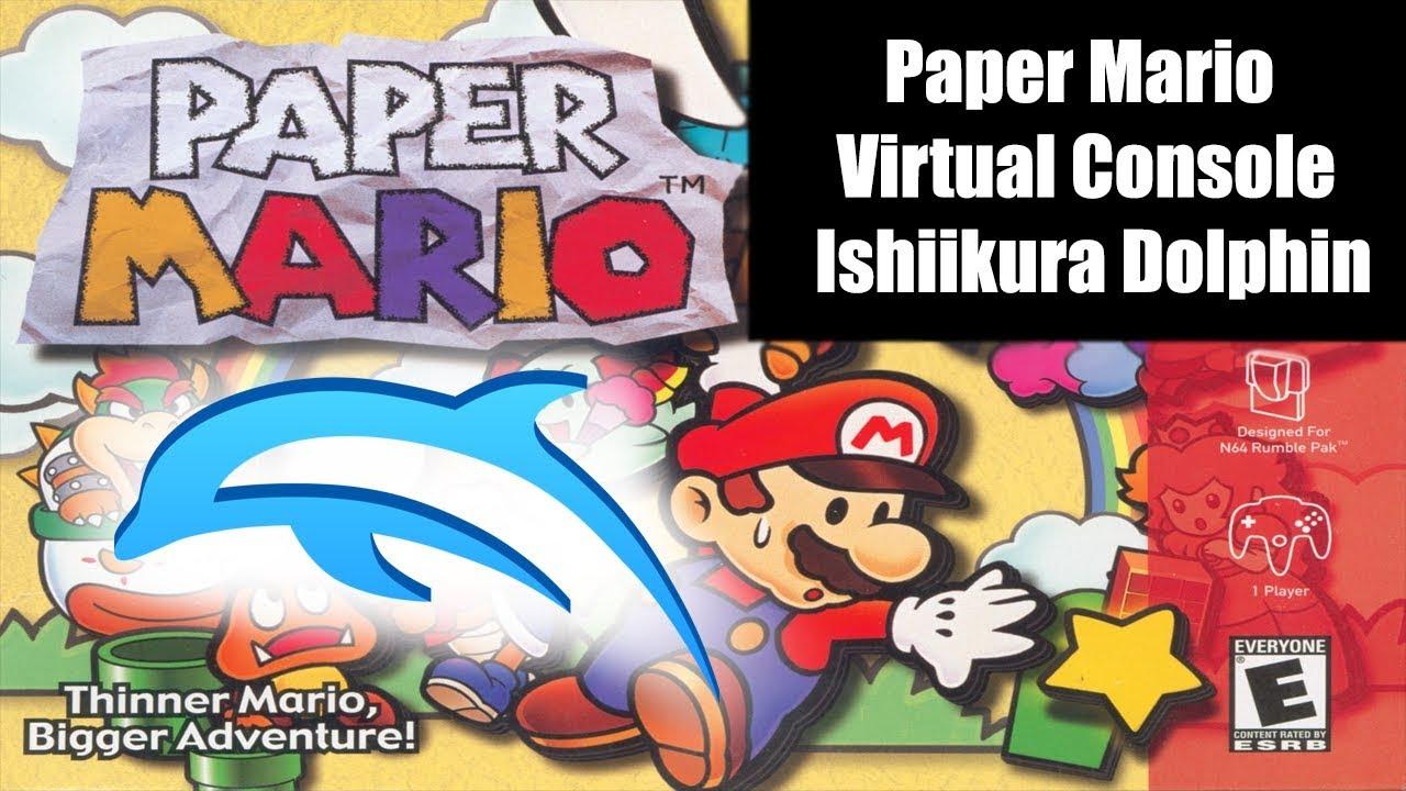 Paper Mario Virtual Console Ishiikura Dolphin