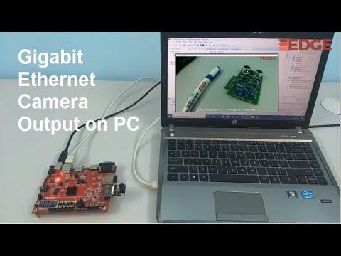 High Speed Ethernet Streaming of CMOS Camera using EDGE ZYNQ SoC FPGA kit