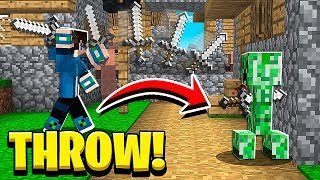 How to THROW SWORDS in Minecraft PE Tutorial! (NO MODS!)
