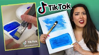 I Tried TikTok's BEST Art Hacks & Challenges...*oh boy*