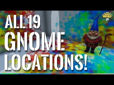 ALL 19 GNOME LOCATIONS! With Footage! #SoaRRC   Fortnite Battle Royale