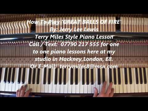 GREATEST GREAT BALLS OF FIRE YOUTUBE PIANO TUTORIAL EVER By Terry Miles