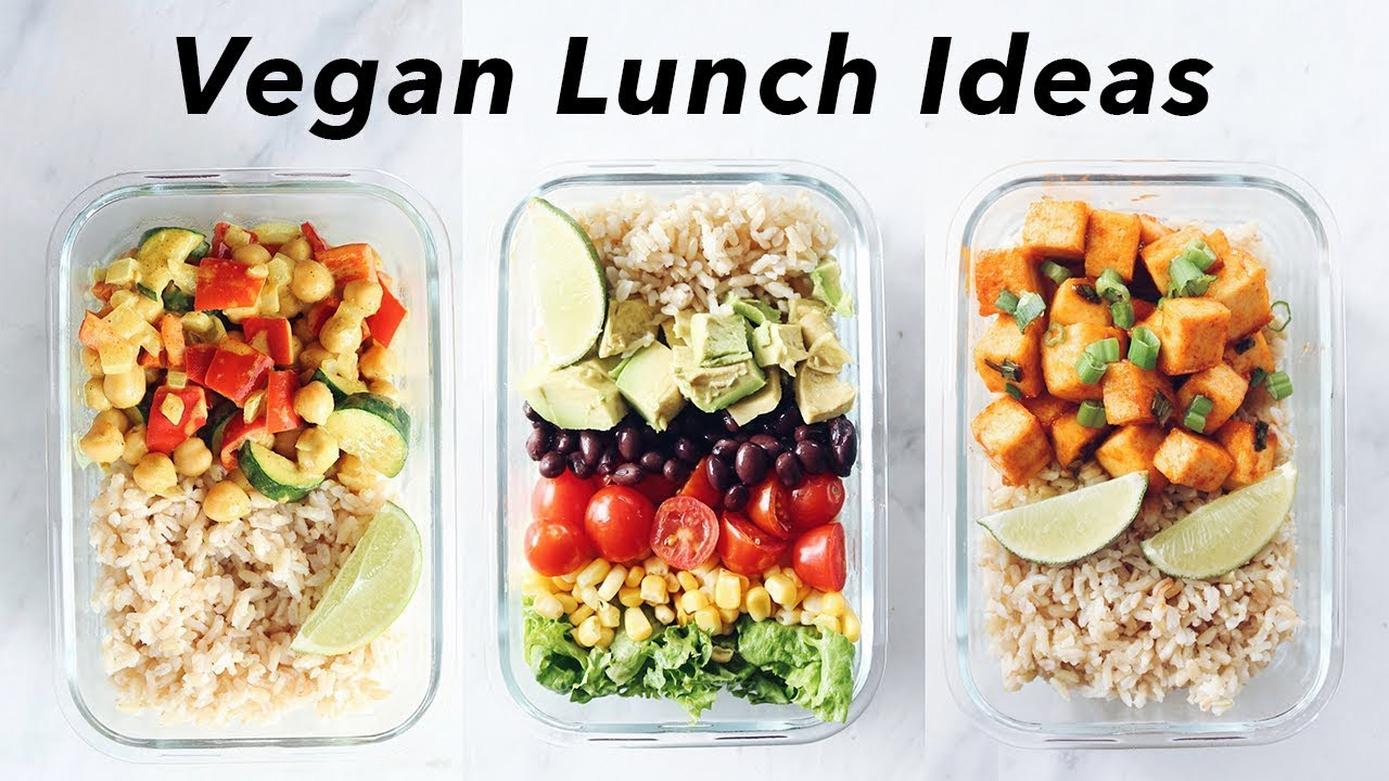Easy Quick Vegan Lunch Ideas For School Or Work Youtube