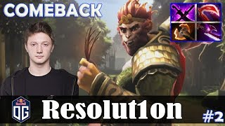 Resolution - Monkey King Offlane | COMEBACK | 7.07 Update Patch Dota 2 Pro MMR  Gameplay #2
