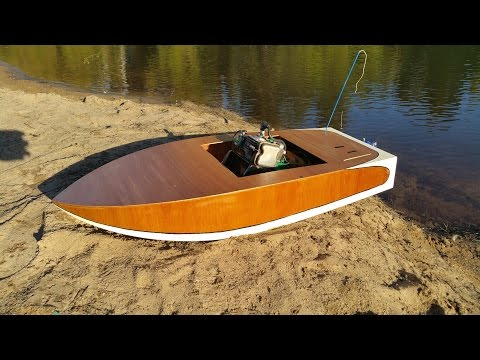 My Homemade Crackerbox RC Boat