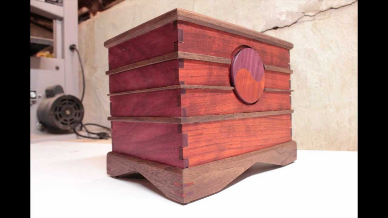 African Padauk, Brazilian Walnut U0026 Purple Heart Yin/Yang Box