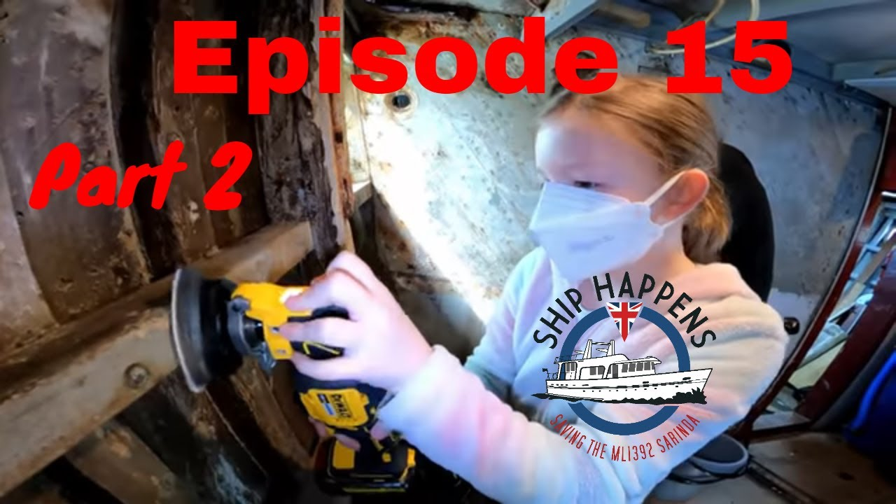 Ep 15 Part 2 - Painting The Old Galley, And A Visit To A Boatyard