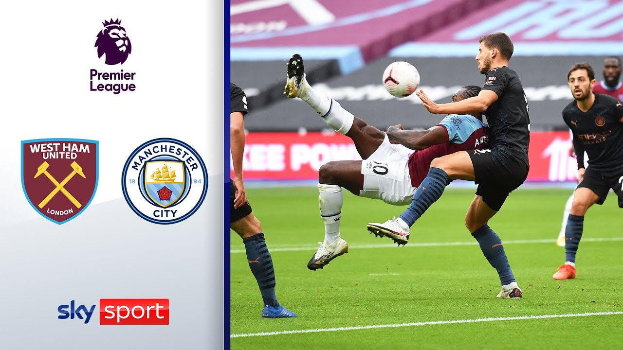 Fallrückzieher schockt City | West Ham United - Manchester City 1:1 | Highlights - Premier League