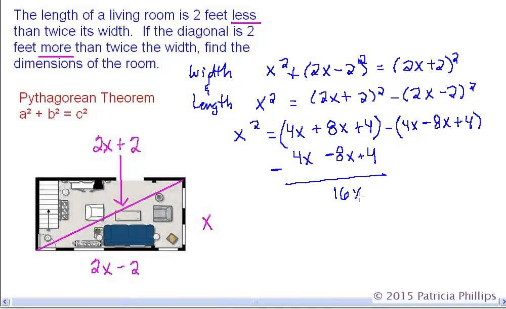 Geometry Pythagorean Theorem Word Problems  Youtube