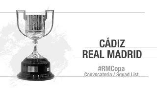 Estos son nuestros 17 convocados para el partido contra el Cádiz