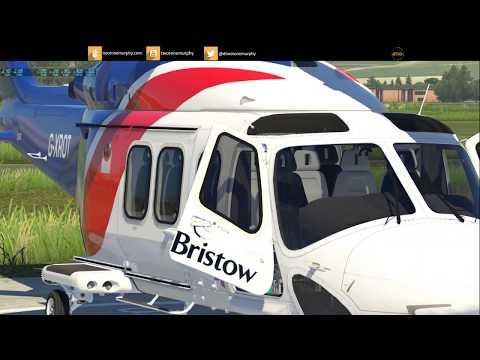 X Plane 11 Stream - X-Rotors AW139 v4 - ORBX Great Britain South