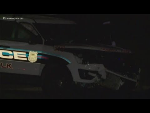 Norfolk Police Officer Hit By Car