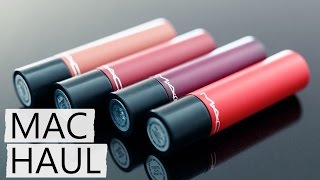 M.A.C. Liptensity Lipstick Collection Try On Haul!