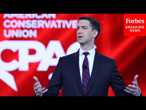 """Tom Cotton blasts liberals, New York Times' """"little social justice warriors"""" in CPAC 2021 speech"""