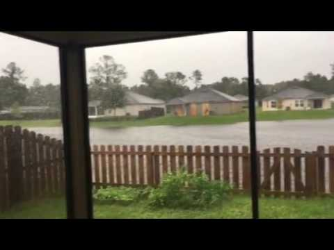 Surviving Hurricane Matthew in Jacksonville apx 6:15pm west side almost to Oakleaf