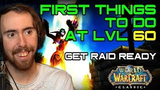 Asmongold Reacts To First Things to do at LVL 60 in Classic WoW!