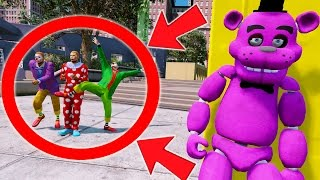 CAN SHADOW FREDDY HIDE FROM THE SCARY CLOWNS? (GTA 5 Mods For Kids FNAF Funny Moments) RedHatter
