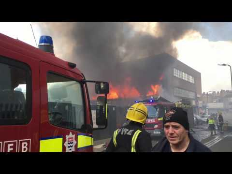 Fire at Mare Street, Hackney.,London.   22 October 2016 about 13:00
