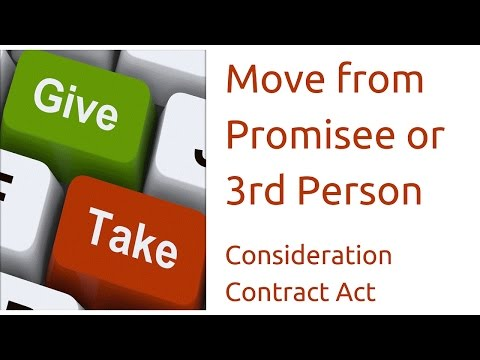 Move From Promisee Or Third Person For  Consideration | Indian Contract Act Law | CA CPT | CS