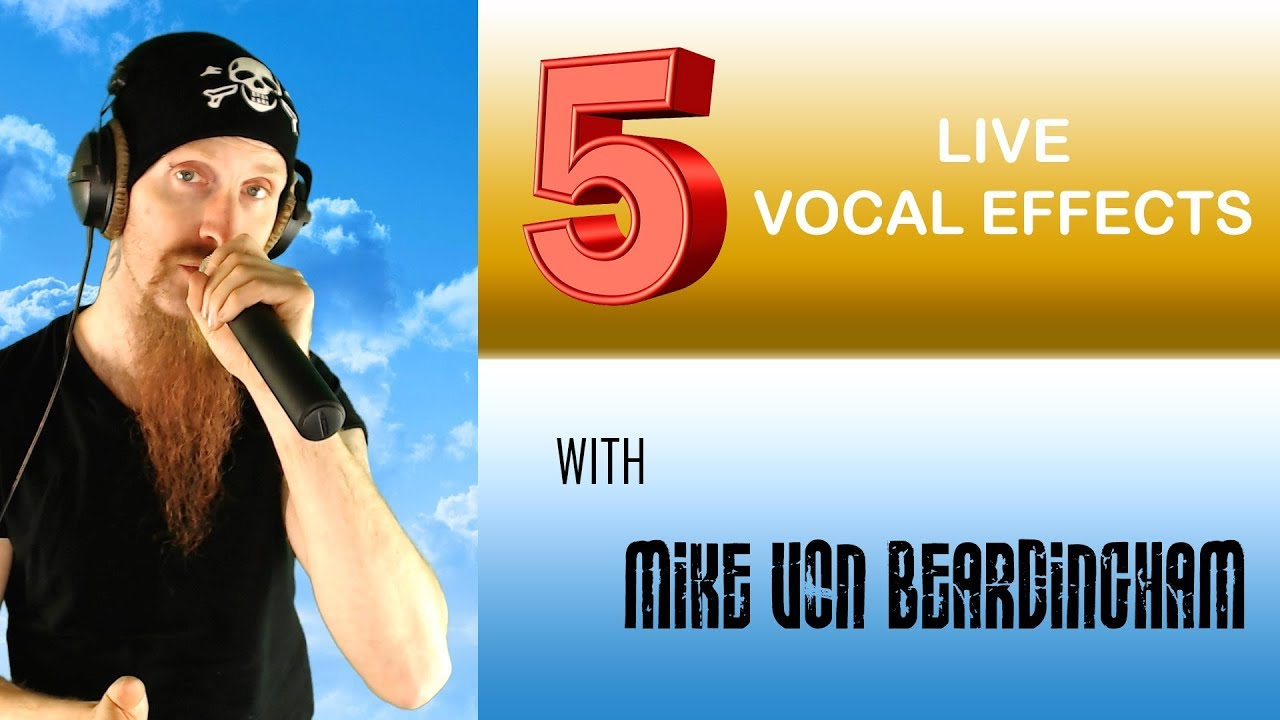 5 vocal effects to use in live performances youtube. Black Bedroom Furniture Sets. Home Design Ideas