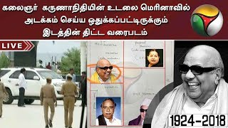 Plot of the space allocated in Marina for the burial of DMK Chief Karunanidhi