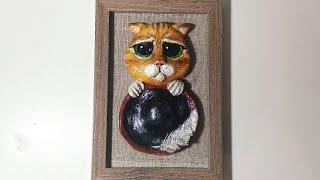 Кот в сапогах своими руками из соленого теста.Как сделать кота.Поделки.Мастер-класс.Puss.DIY.