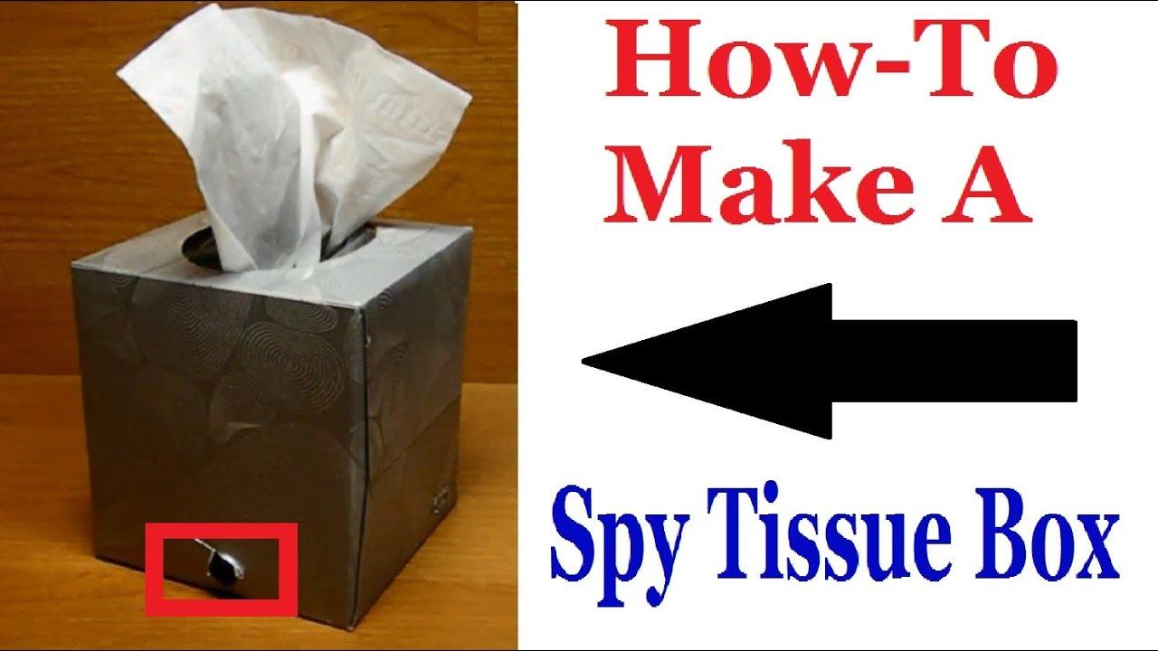 How To Make A Spy Tissue Box - Spy Gadget