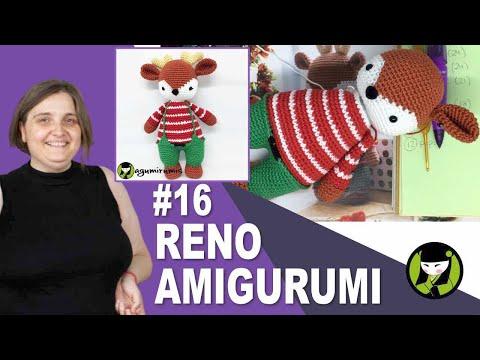 RENO AMIGURUMI 16 muñeco navideño a crochet