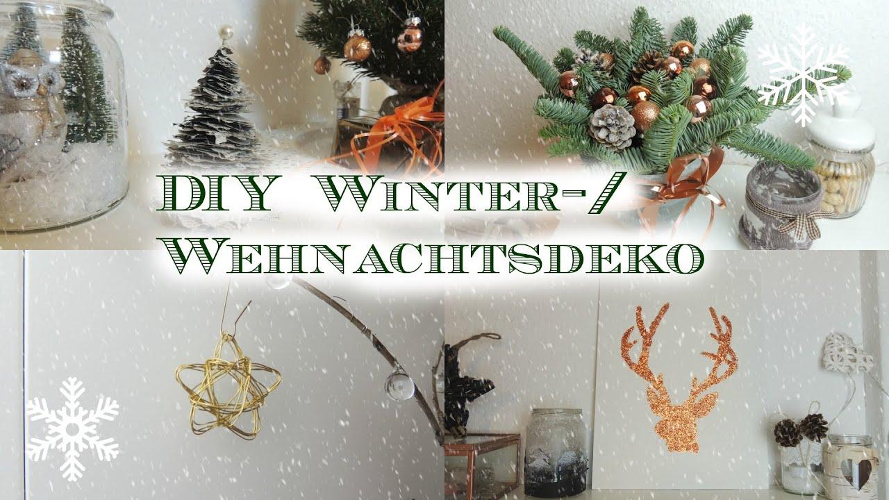 diy winter-/weihnachtsdeko - youtube - Diy Weihnachtsdeko
