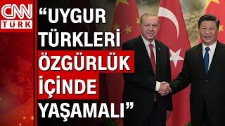 Cumhurbaşkanı Erdoğan, Şi Cinping ile görüştü