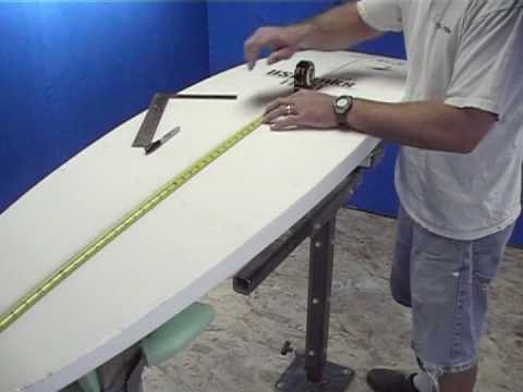 Surfboard building shaping glassing wavrydr surf gear for Making a surfboard template