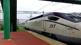 韓国の高速鉄道SRT130000形試運転列車釜山駅発車